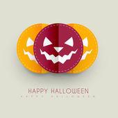 Diseño de felicitación de halloween — Vector de stock