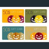 Halloween gift cards — Stock Vector