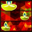Colorful diwali headers — Image vectorielle