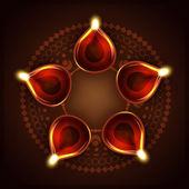 Diwali background — Stock Vector