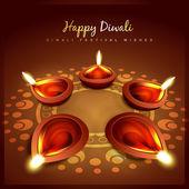 Diwali tebrik — Stok Vektör