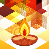 Beautiful diwali background — Stock Vector