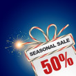 Seasonal sale discount — Vector de stock #33956001