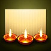 Beautiful diwali greeting — Stock Vector