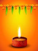 Diwali greeting design — Stock Vector