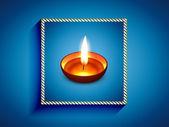 Vector diwali greeting — Stock Vector