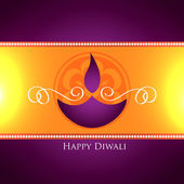 Vector diwali festival design — Stock Vector