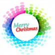 Colorful christmas banner — Stock Vector