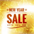 New year sale design — Stock Vector