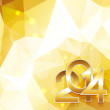 Happy new year in golden style — Stockvectorbeeld