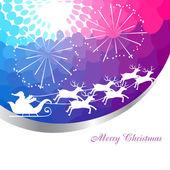 Santa claus sleigh — Stockvektor