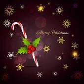 рождественский тростник леденца — Cтоковый вектор