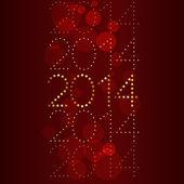 Lucido e felice anno nuovo — Vettoriale Stock