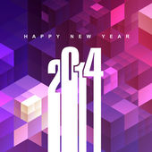 2014 greeting — Stock Vector