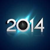 Creative 2014 new year — 图库矢量图片