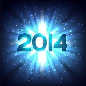 Glowing happy new year design — Vecteur