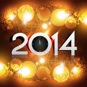 Glowing new year lights — Vettoriale Stock