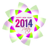 Vector 2014 greeting — Stock Vector