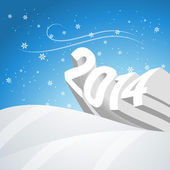 Snowy new year — Stock Vector