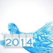 Felice anno nuovo design — Vettoriale Stock
