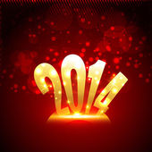 Gouden gelukkig nieuwjaar ontwerp — Stockvector