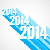 3d style new year — Stockvector