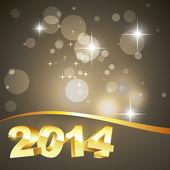 Golden happy new year design — Stock Vector