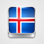 Flag of iceland — Stock Vector