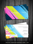 Colorful business card — Stock Vector