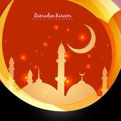 Stylish ramadan background — Stock Vector