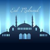 Eid mubarak design — Stock Vector