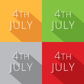 4th of july collection — Stock Vector
