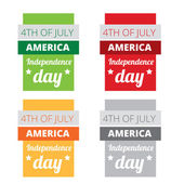 Set of american independence day — Stock Vector