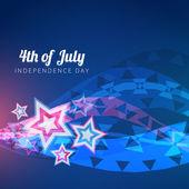 4 lipca projekt wektor — Wektor stockowy