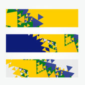 Brazil headers — Stock Vector