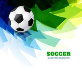 Colorful football vector — Stock Vector