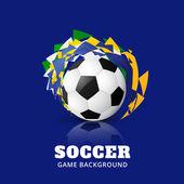 Soccer game-design — Stockvector