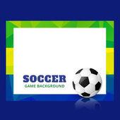 Stylish football design — Stock Vector