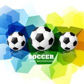 Colorful football design — ストックベクタ