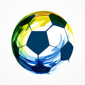 Creative football design — Vector de stock