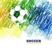 красочный футбол вектор — Cтоковый вектор