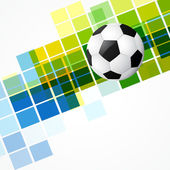 Abstract mosaic football design — Stock Vector