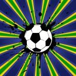 Grunge style soccer design — Stock Vector #48920861