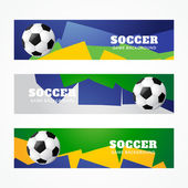 Football headers — Stock Vector