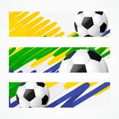 Football headers set — Stock Vector