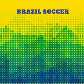 Brazil soccer design — Stock Vector