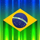 Brazil flag design — Stock Vector