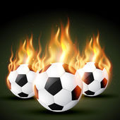 Fire football — Stock Vector