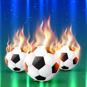 Fire football — Stockvector