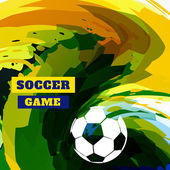Soccer game design — Vector de stock